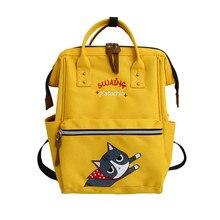 Cute Cat printing Backpack High capacity Knapsack Women Backpack Pure Color Teenager Backpack Female Bag Mochila Bagpack 2019