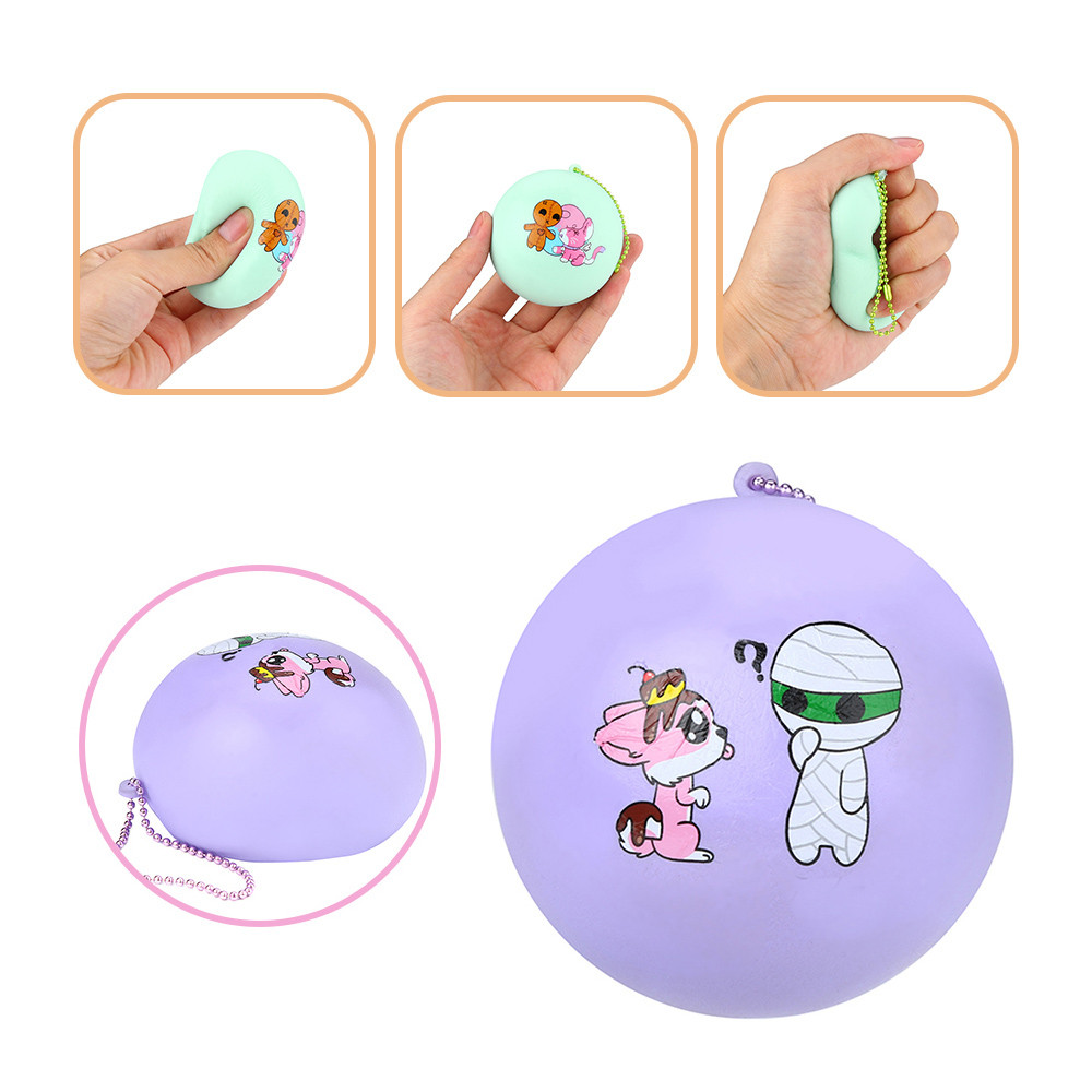 Cute Bread Pendant  Squishy Slow Rising Squeeze Toys Soft Stretchy Scented Stress Relief Toy Xmas Decor Gifts @A