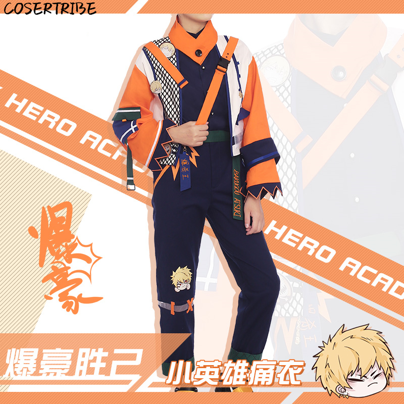 Anime My Hero Academia Bakugou katsuki Gothic Uniform Daily Casual Suit Cosplay Costume For Men Halloween Free Shipping 2019 New