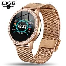 LIGE Fashion Smart Watch Women Men Sport Waterproof Clock Heart Rate Sleep Monitor For iPhone Bluetooth Wearable Call Reminder