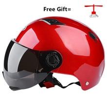 Motorcycle Helmet red adult Helmet For Motorcycle Open Face Helmet Casco Moto Capacete Retro Vintage Caps free size for summer стоимость