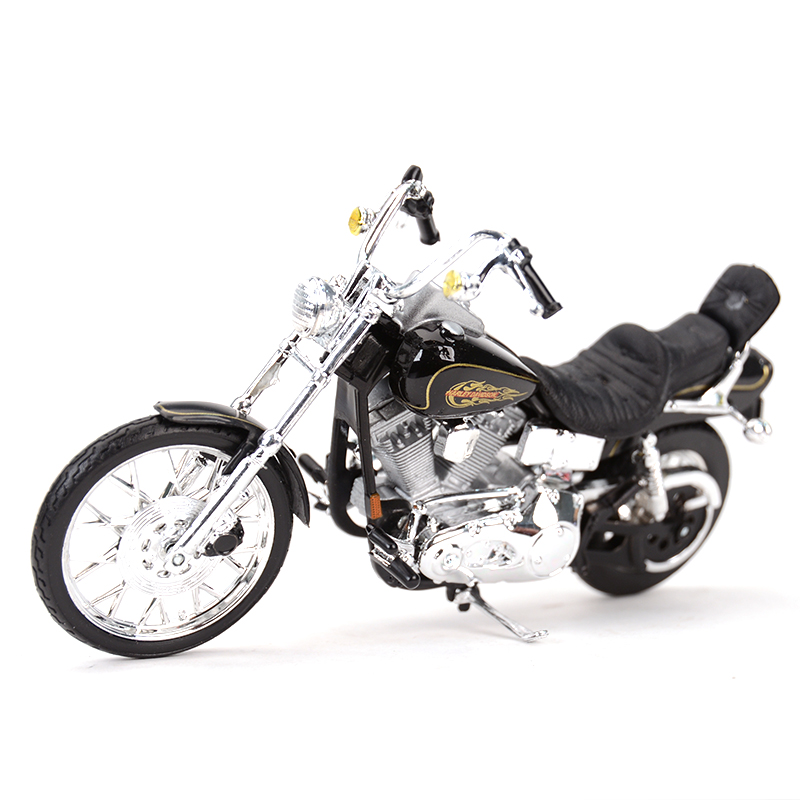 Maisto 1:18 1997 FXDWG Dyna Wide Glide Diecast Alloy Motorcycle Model Toy