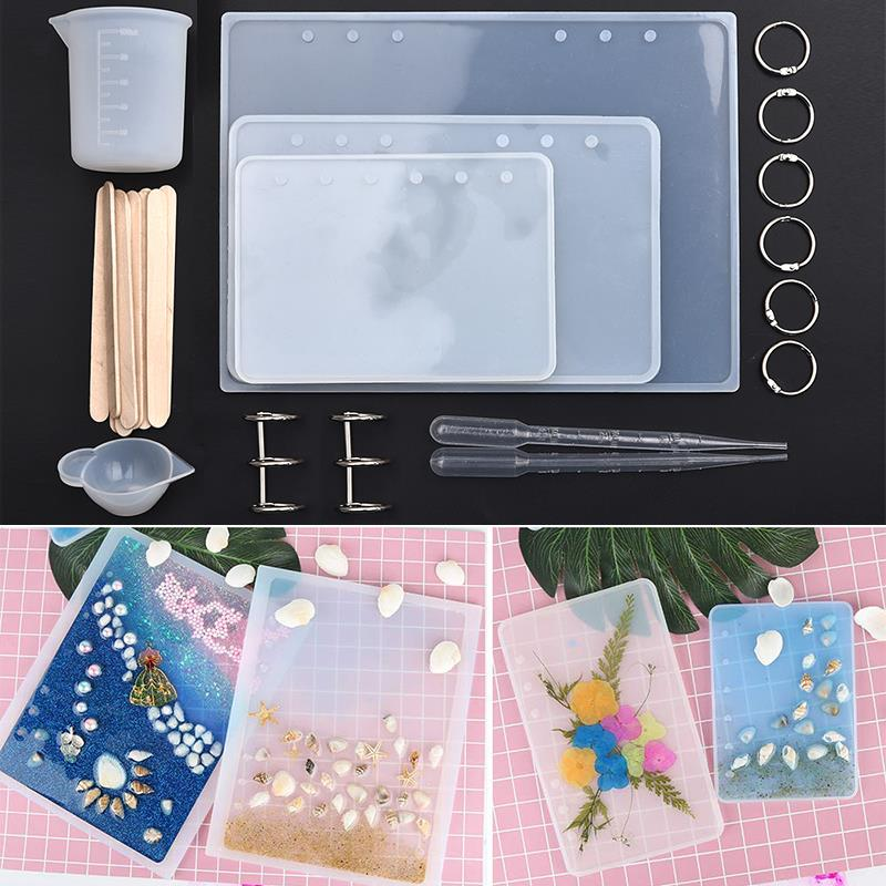 A5 A6 A7 Notebook Cover Silicone Mould  For Jewelry Resin Mold Tools Set DIY Handmade Crystal Epoxy Resin Molds Transparent Book