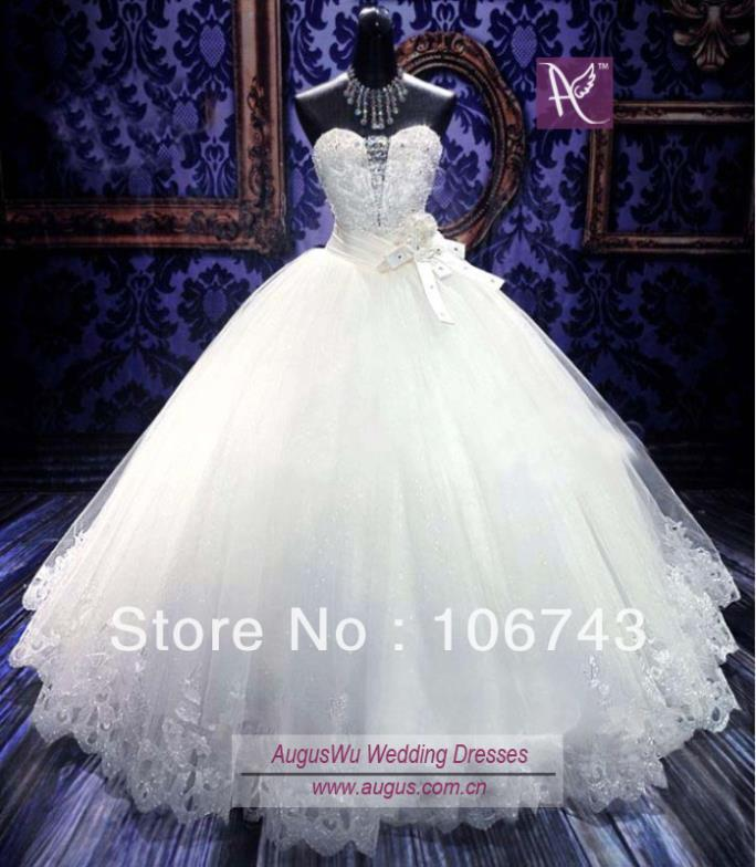 Dress Free Shipping White Tulle Ball Gown Luxury Crystal Baded Victorian Plus Size Wedding Gown Bridal Mother Of The Bride Dress