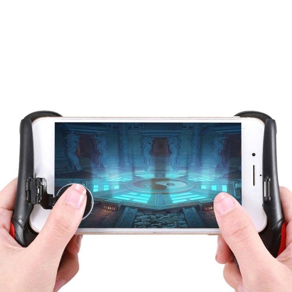 Lekki mobilny pad do grania Gamepad do kontrolera Pubg Shooter Fire Trigger do Joy Stick akcesoria do grania