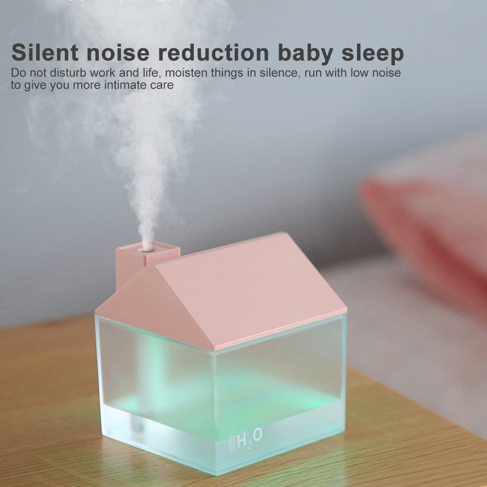 USB Cat Air Humidifier Mini Humidifier Essential Oil  Purifier Atomizer With LED Light Fan For Home Office