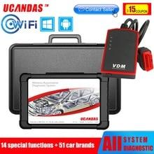 UCANDAS VDM WIFI USB OBD2 tarayıcı profesyonel tam sistem otomotiv tarayıcı Obd 2 araç teşhis aracı çok dilli ücretsiz güncelleme