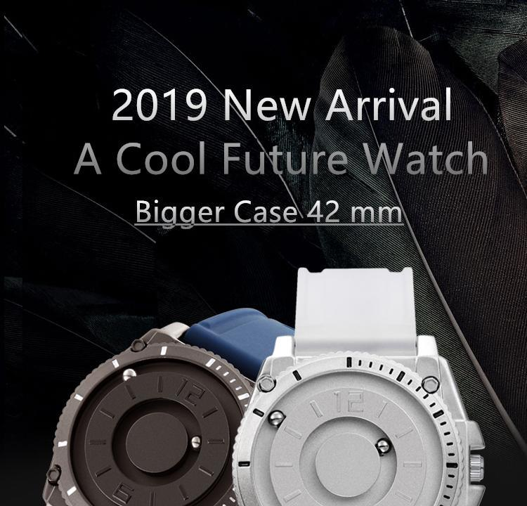 H07453d18f7f548fabe0672e0c6066e61t Eutour magnetic watch parallel time and space black technology men's couple wristwatch women's wristwatch personality gel wristb