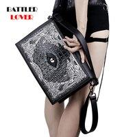 2019 Eyes bag Evil Vintage Skull Women Messenger Bags Envelope Mini Clutch Bags Females Crossbody Punk Shoulder Bag Sac A Main