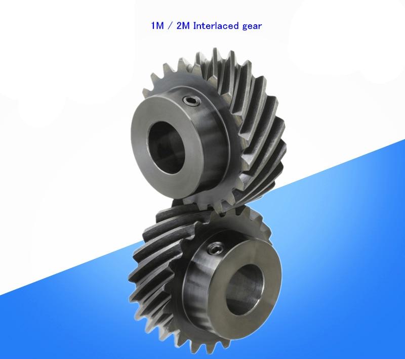 1M 2M 15 20 26 30 Teeth Helical Gear Motor Interlaced Gear 45 Degree Helical Gear 6 8 10 24 Mm Hole