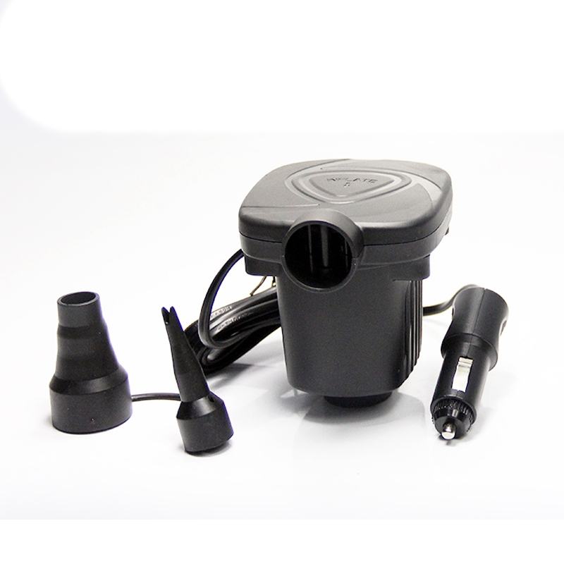 12V DC Electric Air Pump Inflator with 2 Nozzles for Inflatables Mattress Raft Bed Boat Portable Car Air Pump Compressor