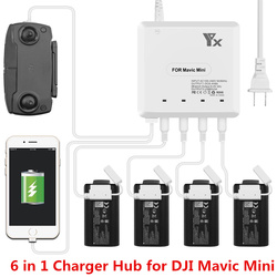 6 in 1 Mavic Mini Charger Battery Charge Remote Control phone Tablet Charge For DJI Mavic Mini Charger Hub With USB Port