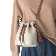 Female Bucket Bags Casual PU Leather Women Shoulder Bag Solid Color Ladies Messenger Bags Totes Womens Girls Crossbody Bag new fashion women pu leather tassel bucket vintage retro crossbody bags female shoulder bag ladies elegant large totes dec29