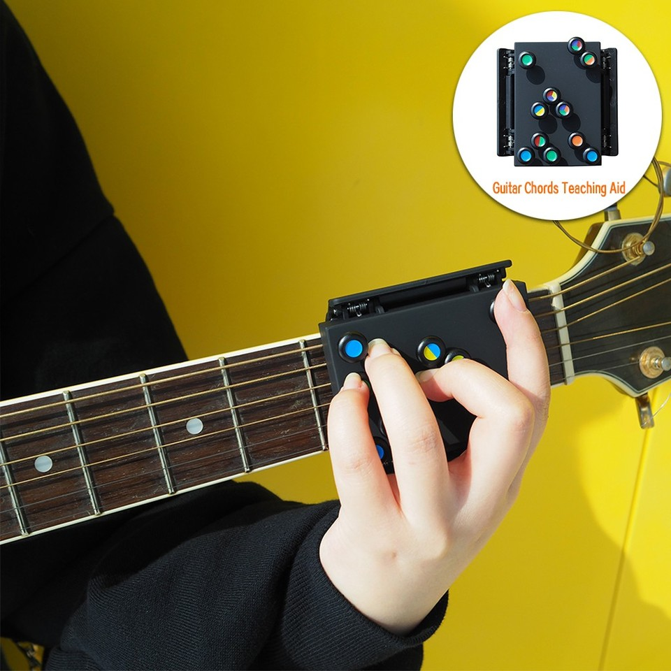 Gold Folk Guitar Chord Assistant,Guitar Chord Practice Tool Practice Aid Tool Guitar Chord Learning System for Guitar Beginners