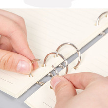 30PCS 20MM metal card ring buckle stationery bookbinding activity opening album book iron loose-leaf