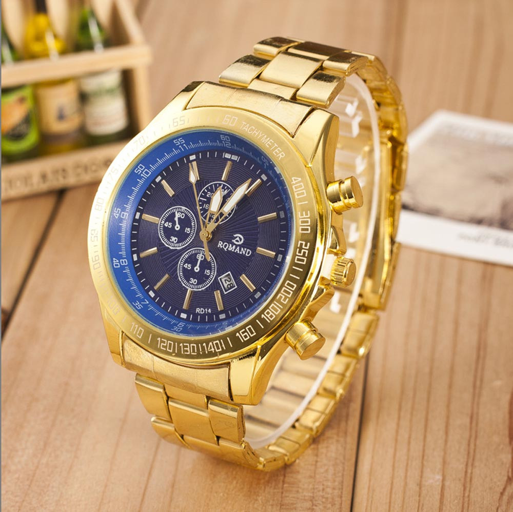 Men Watches Business Quartz Wristwatch Bracelet Gold Silver Stainless Steel Men Watch Fashion Top Brand Luxury Erkek Kol Saati