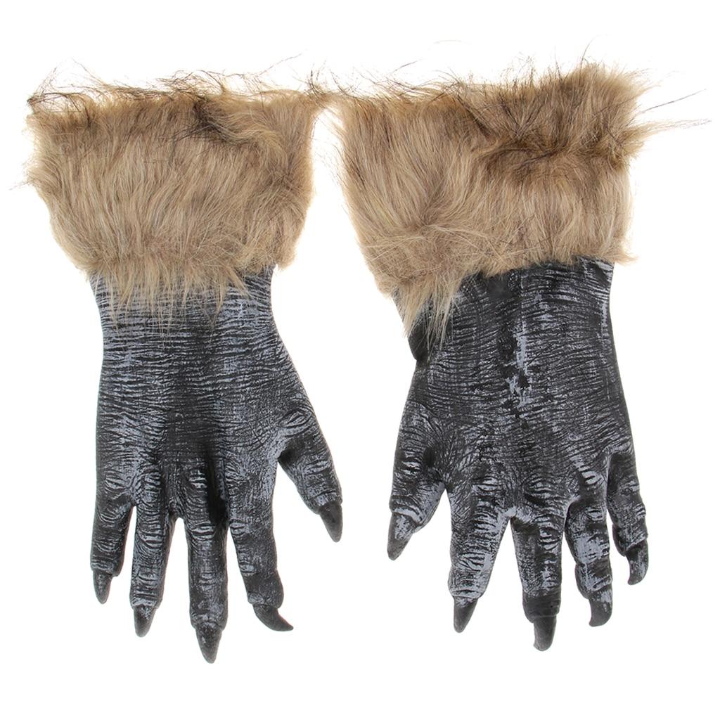 Halloween Accessories Werewolf Gloves Hands Fancy Dress Costume
