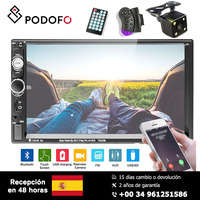 Podofo 7'' Car Radio HD touch screen Support Android Iphone Mirror Link Bluetooth FM AUX USB SD 2 din Car MP5 player