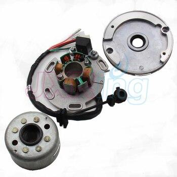 Nuevo estator de 8 bobinas LF Lifan 150cc y carcasa de Magneto para Motor Horizontal, Rotor de estator de carreras para moto de cross pit monkey 140 150cc