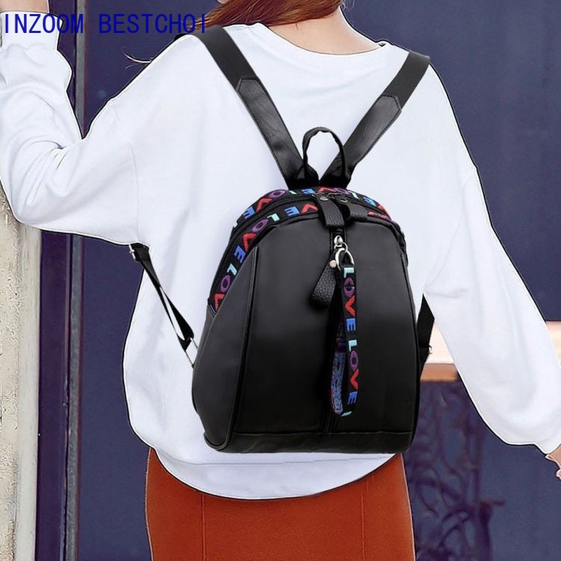 New Casual Mochilas Mujer 2019 Back Pack Sac A Dos Femme Women Oxford Cloth Wild Fashion Casual Student Bag Travel Backpack