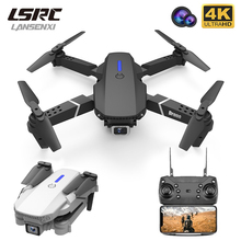 LSRC new RC drone E525 WIFI FPV and wide-angle high-definition 4K dual camera height keep foldable quadrotor dron gift toy()