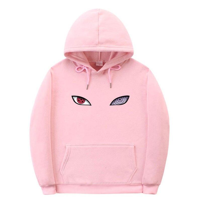 New Harajuku Anime Men And Women Hoodie Naruto Uchiha Uzumaki Hatake Eye Print Pullover Sweatshirt Men Hip Hop Street Clothing