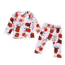 Emmababy Одежда для новорожденных; для маленьких мальчиков и девочек рождественские пижамы, Рождественская Ночная Пижама Пижамный набор