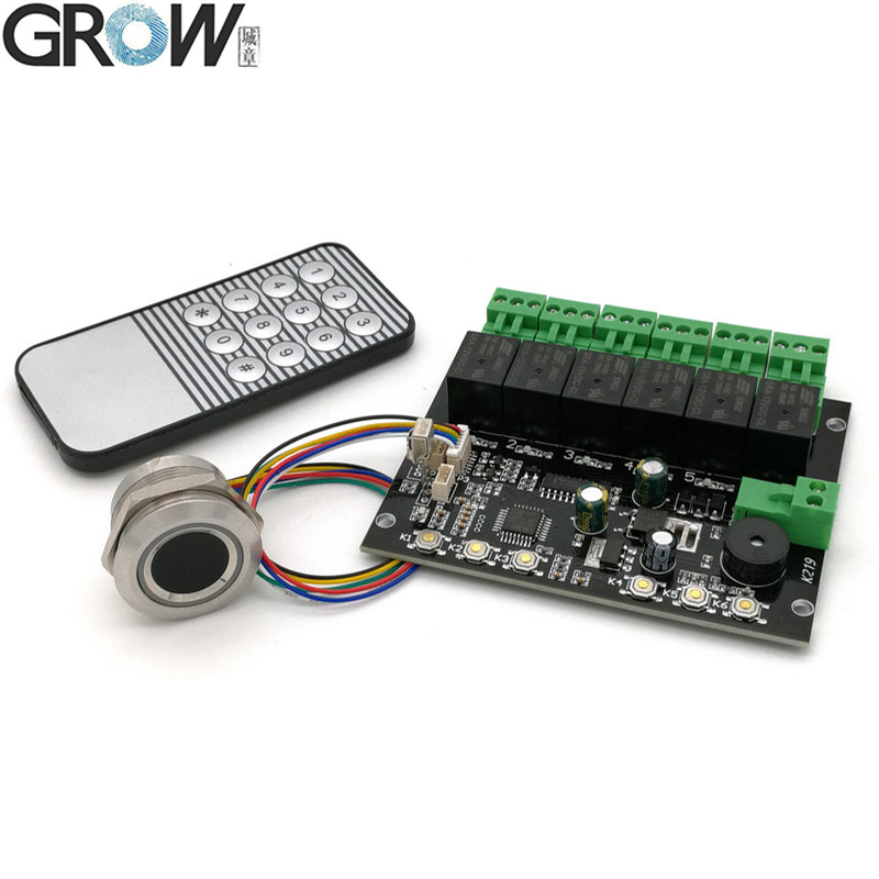 GROW K219-A+R503 Programmable Fingerprint Infrared Control Board Control Relay Time Control Switch