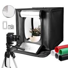 40x40CM Foto Licht Studio Weichen Boxen Tragbare Faltbare Dimmbare Fotografie Tabelle Schießen Zelte Kit Mit 3Pcs hintergrund Bord