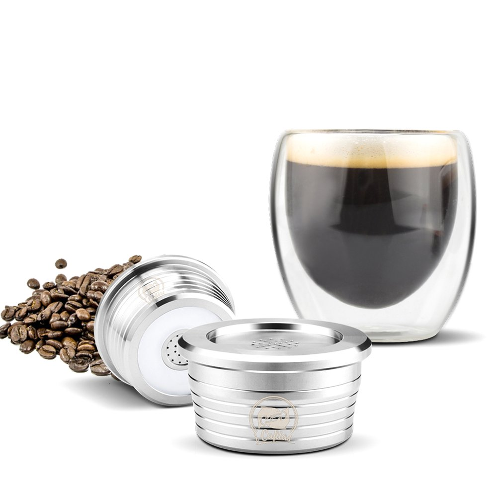 Stainless Steel Refillable Coffee Capsule Pod Filter Dripper Tamper Compatible With DELTA Q/ Coffee Machine