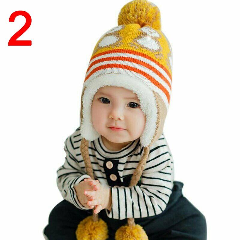 Hat-Cap Toddler Kids Baby Boy Girl Winter Warm Knitted Crochet Earflap Beanie