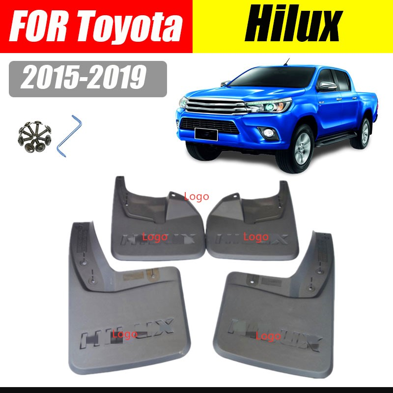 VIRGO 4 PIECE HEAVY DUTY RUBBER CAR MATS for TOYOTA HILUX INVINCIBLE