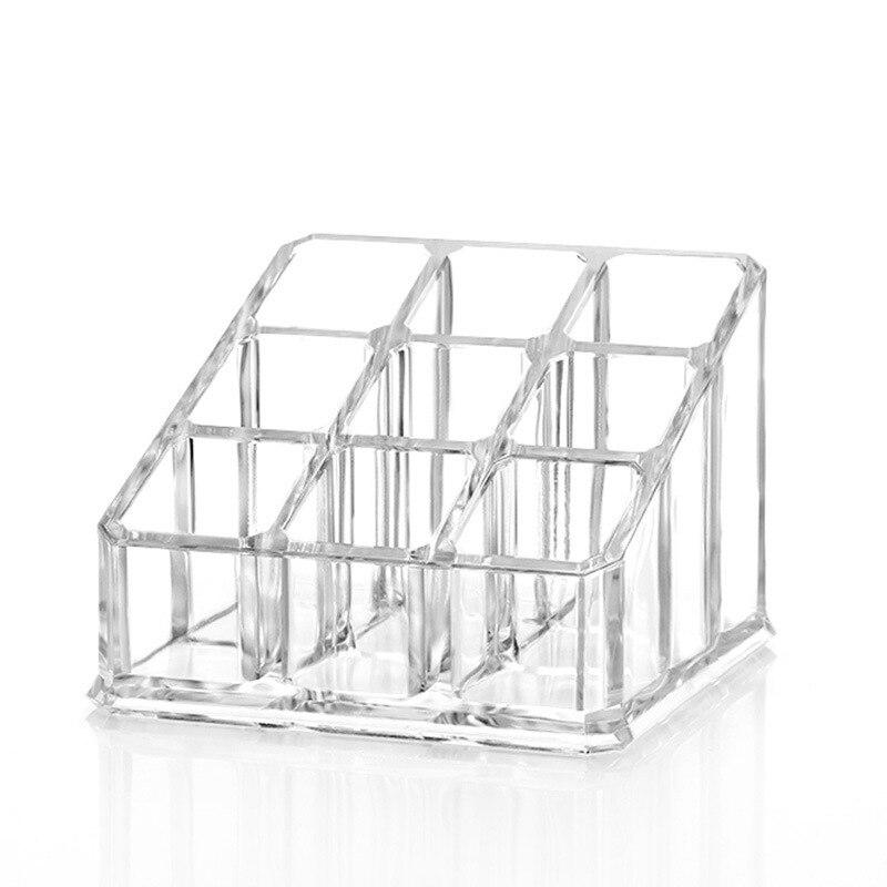 9 Grid Acrylic Transparent Jewelry Box Rack Lipstick Lipstick Nail Polish Storage Box Sundries Box Cosmetic Box Display Rack