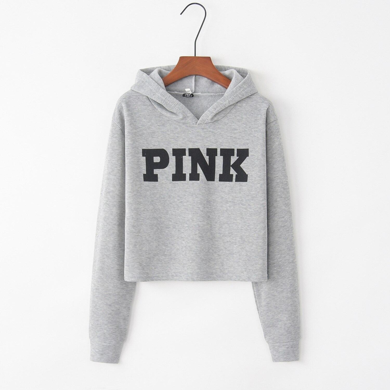 Letter Printed Pink 2020 New Design Hot Sale Hoodies Sweatshirts Women Casual Kawaii Harajuku Sweat Girls European Tops Korean
