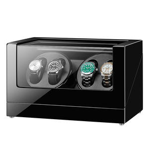JQUEEN 4 Watch Winder for Automatic Watches with Extremely Quiet Motor Large Capacity