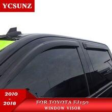 Fenster visier für Toyota Fj150 2010-2018 seite fenster deflektoren regen schutz für Toyota 150 LC150 2010-2018 auto zubehör YCSUNZ