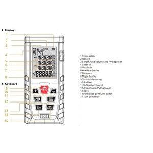 Image 3 - 50m 70m 100m 120m Laser Distance Meter  Laser Range Finder Rangefinder Metro Trena Laser Tape Measure Ruler Roulette Tool