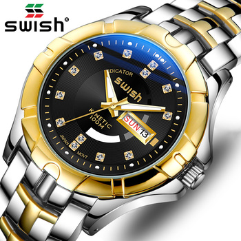 SWISH Luxury Watch for Men 2020 Fashion Waterproof Sport Quartz Clock Stainless Steel Military Wristwatch Male Relogio Masculino - discount item  60% OFF Men's Watches
