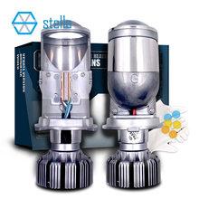 Stella H4 Led Koplamp Lens Projector Bi Led Lenzen Voor 12V Auto 82W 8000LM 6000K Gloeilamp h19 Hi Lo Turbo Ijs Lamp Voor Auto
