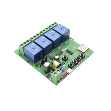 Wifi inalámbrico interruptor de relé para casa inteligente aplicación EweLink y 433Mhz 1527 código de aprendizaje dos métodos de Control de interruptor de 4 canales