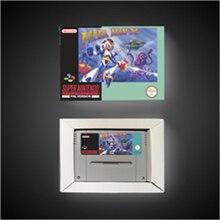 Megaman x eur cartão de jogo de ação versão, com caixa de varejo