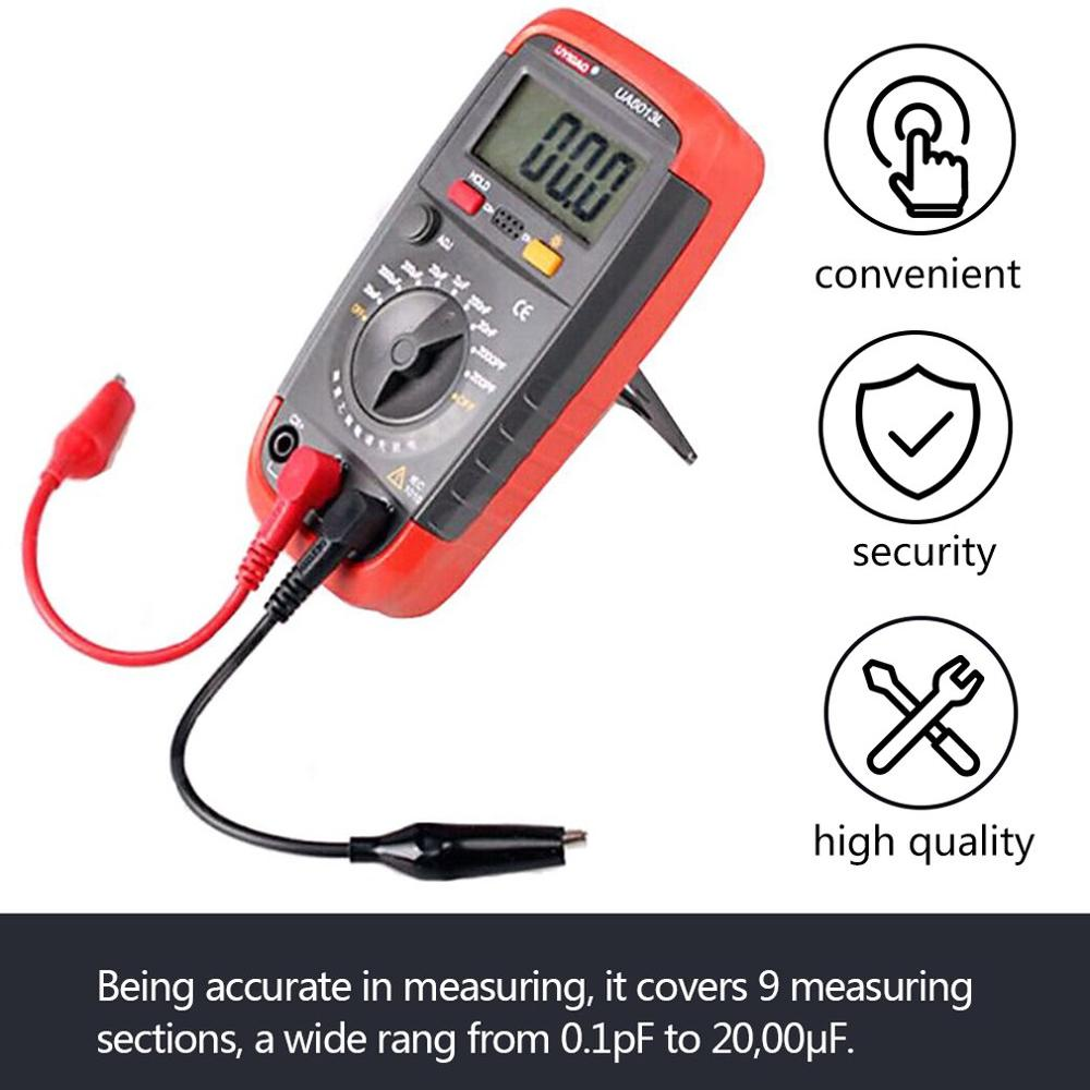 1 <font><b>Pc</b></font> UA6013L Auto Range Digital LCD <font><b>Capacitor</b></font> Capacitance Test Meter Multimeter Measurement Tester Meter Wholesale Worldwide image