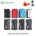 Электронная сигарета DOVPO Topside Dual 200 Вт Vape Mod Top Fill TC Squonk 10 мл Питание от двойной батареи 18650 испаритель VS Drag 2