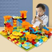 Large Particle Building Blocks Brick Marble Race Run Block 56-100pcs e Funnel Slide Blocks DIY Bricks Children Big Size Toys