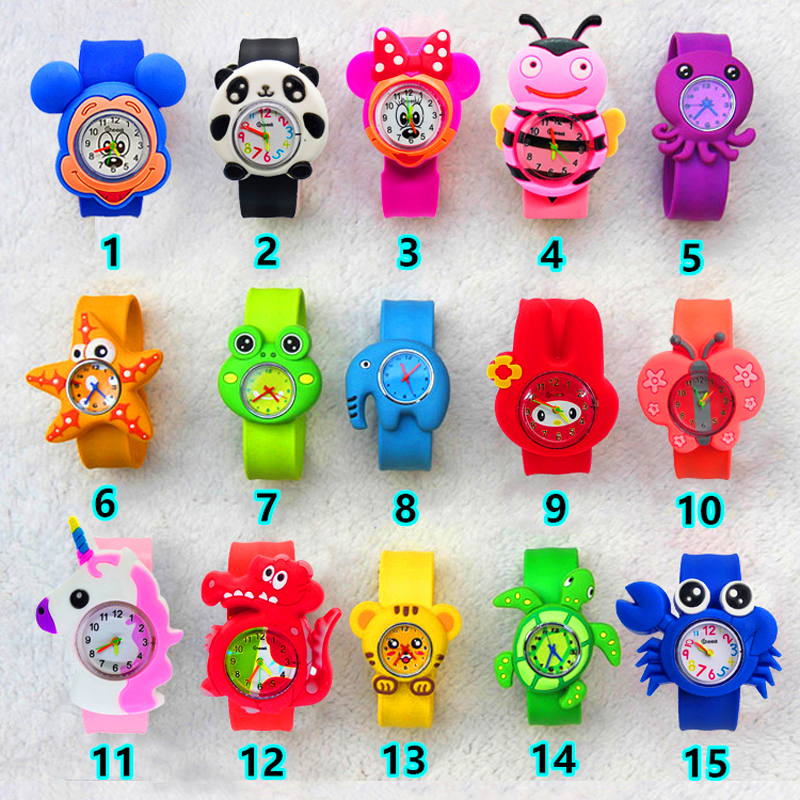 Children Watches Kids Quartz Analog Silicone Wristwatches 15 Cartoon Animals Child Watch Birthday Gifts For Girls Boys Kid Clock