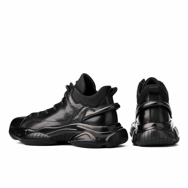 2020 dorywczo oryginalne skórzane buty męskie polarowe ciepłe okrągłe Toe obuwie koronka wysokiej jakości Up Comfort Fashion luksusowe skórzane buty
