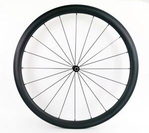 Image 2 - 700c 38mm 깊이 도로 자전거 탄소 바퀴 25mm 폭 clincher/관형 자전거 초경량 탄소 wheelset ud 무광택 마무리
