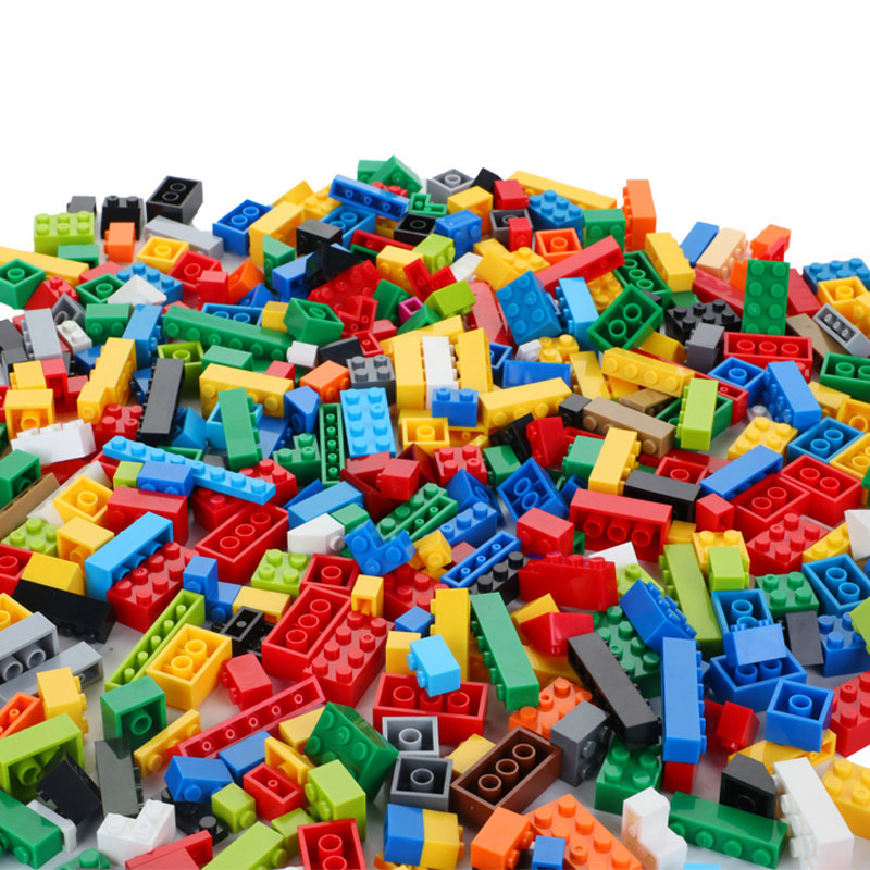 building blocks sets <font><b>1000</b></font> <font><b>pcs</b></font> classic city creator colorful bricks compatible with top brand kids educational toys for children image