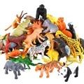 53 шт./компл. игрушки животных моделирование мини джунгли динозавр модель диких животных дикий зоопарк пластик коллекция детская модель игр...