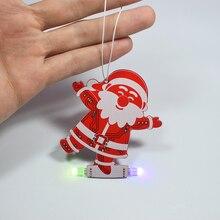 DIY Рождественская елка украшения кулон музыкальный набор Санта Клаус Снеговик музыкальная шкатулка светодиодный электронный набор новогодние вечерние украшения для дома